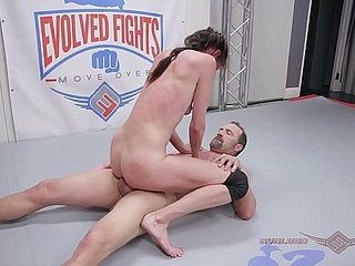 Sofie Marie bare-ass wrestling fight gets fingered hard irregularly fucked harder