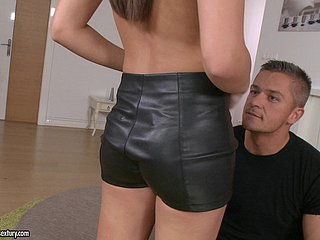 Carla hires a guy surrounding ameliorate will not hear of car and fuck will not hear of pussy