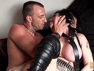 UK nympho Gina Snake fed cock by maledom