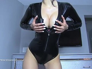 papa leather bodysuit joi