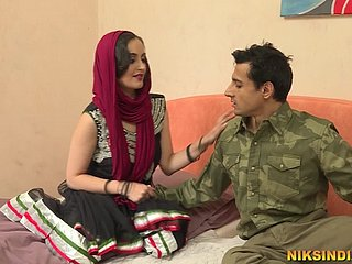 Hot Indian Bhabhi talks dirty in Hindi, sucks cock and gets fucked hard